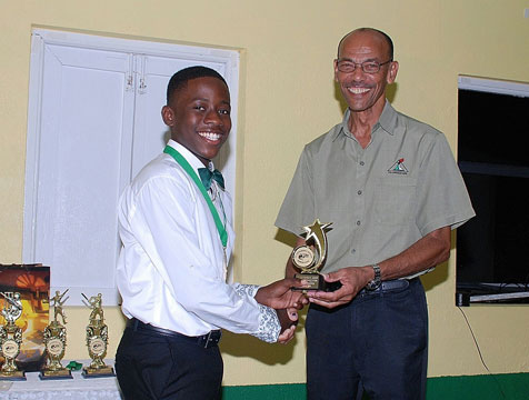 Awards ceremony for St. Catherine Juniors Cricket Team